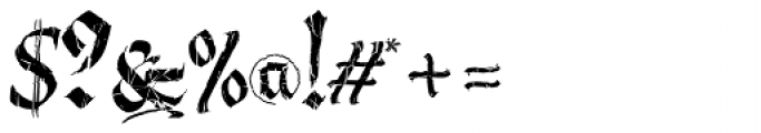 Berliner Fraktur Crashed Font OTHER CHARS