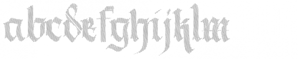 Berliner Fraktur Shadow Font LOWERCASE