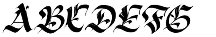 Berliner Fraktur Slanted Font UPPERCASE