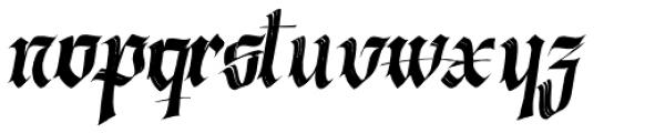 Berliner Fraktur Slanted Font LOWERCASE