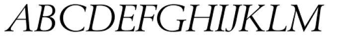 Berling EF Italic Font UPPERCASE
