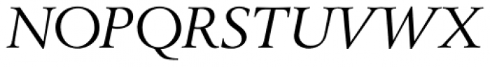 Berling Nova Display Italic Font UPPERCASE