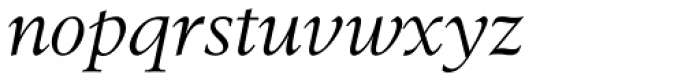 Berling Nova Display Italic Font LOWERCASE