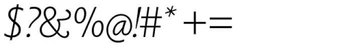 Berling Nova Sans Pro Light Italic Font OTHER CHARS