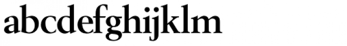 Berling SH Bold Font LOWERCASE