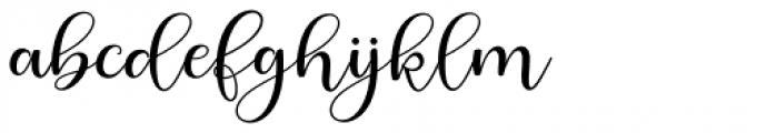 Berliyan Regular Font LOWERCASE