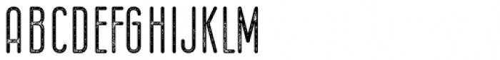 Bernound Rough Font UPPERCASE
