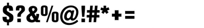 Berthold Akzidenz-Grotesk ExtraBold Condensed Font OTHER CHARS