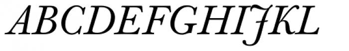 Berthold Baskerville Book Italic Font UPPERCASE