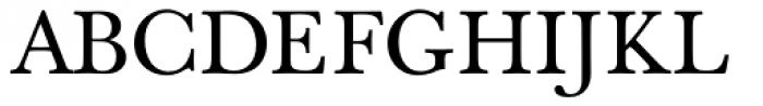 Berthold Baskerville Book Regular Font UPPERCASE