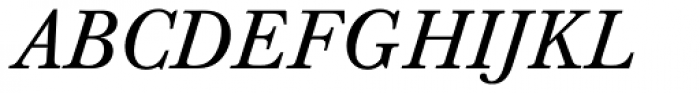 Berthold Baskerville Italic Font UPPERCASE