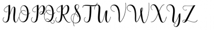 Bertilda Script Regular Font UPPERCASE