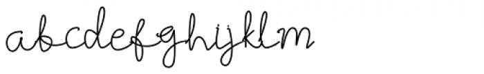 Best Signature Regular Font LOWERCASE