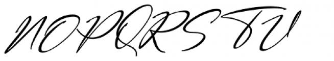 Bestowens Light Italic Font UPPERCASE