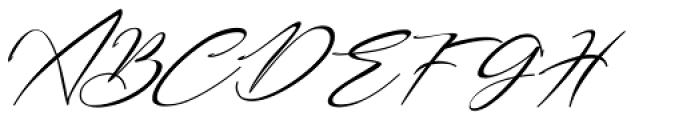 Bestowens Thin Italic Font UPPERCASE