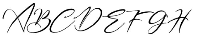 Bestowens Thin Font UPPERCASE