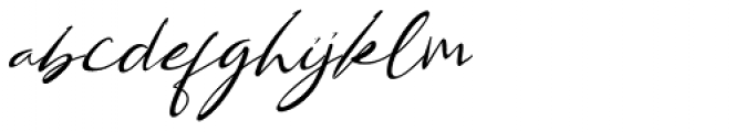 Bestowens Thin Font LOWERCASE