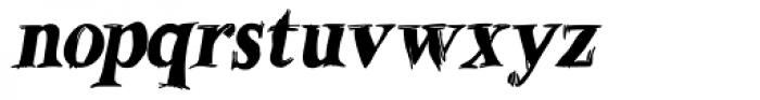 Betabet Black Italic Font LOWERCASE