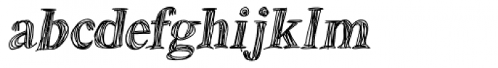 Betabet Italic Font LOWERCASE