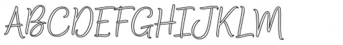 Bethadyn Outline Font UPPERCASE