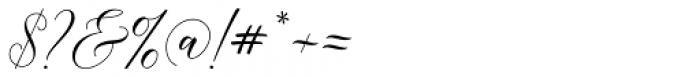 Bethaney Script Regular Font OTHER CHARS