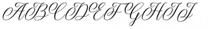Bethaney Script Regular Font UPPERCASE