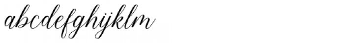 Bethaney Script Regular Font LOWERCASE