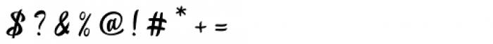Betharie Regular Font OTHER CHARS