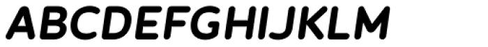 Betm Rounded Semi Bold Italic Font UPPERCASE
