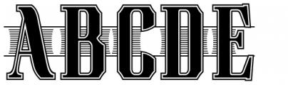 Bettendorff Font UPPERCASE