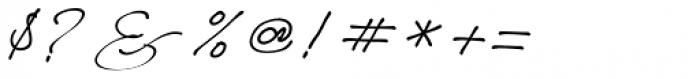 Better Regards Regular Font OTHER CHARS