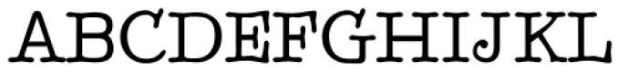 BetterTypeRight Medium Font UPPERCASE