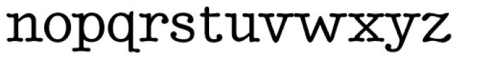 BetterTypeRight Medium Font LOWERCASE