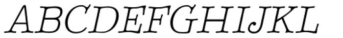 BetterTypeRight Thin Italic Font UPPERCASE