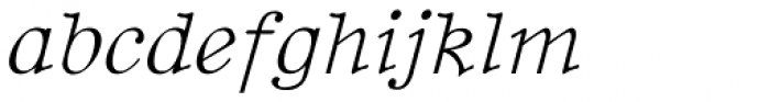 BetterTypeRight Thin Italic Font LOWERCASE