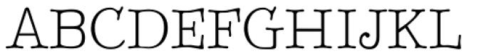 BetterTypeRight Thin Font UPPERCASE