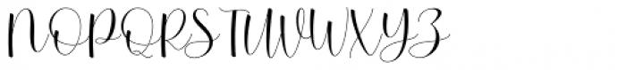 Betterday Script Regular Font UPPERCASE
