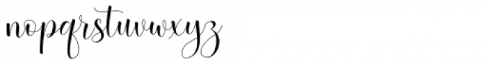 Betterday Script Regular Font LOWERCASE