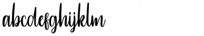Betterlove Regular Font LOWERCASE
