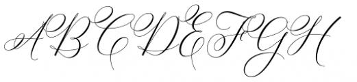 Bettrisia Script Alt Regular Font UPPERCASE