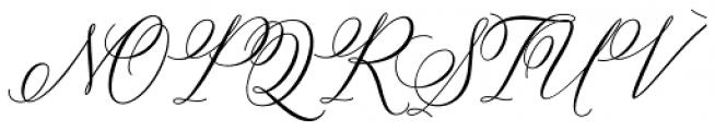 Bettrisia Script Bold Font UPPERCASE