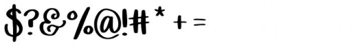 Bewilderment Regular Font OTHER CHARS