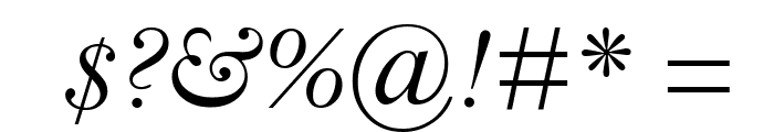 Bell MT Italic Font OTHER CHARS