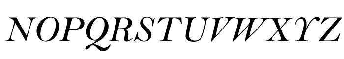 Bell MT Italic Font UPPERCASE