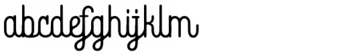 Bhontage Regular Font LOWERCASE