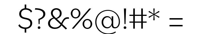 Bilo Light Font OTHER CHARS