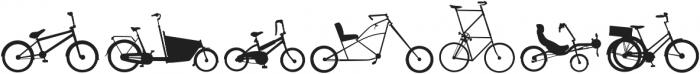 BIKES otf (400) Font OTHER CHARS