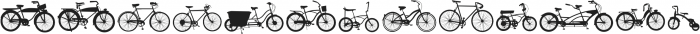 BIKES otf (400) Font UPPERCASE