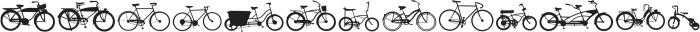 BIKES otf (400) Font LOWERCASE