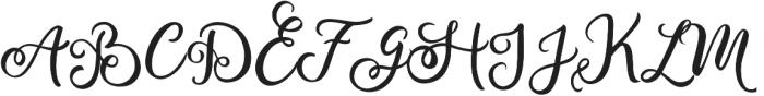Bianglala otf (400) Font UPPERCASE